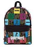 Fortnite Rucksack Für Jungen | Camouflage, Canvas Kinderrucksack | Schulranzen Für Mädchen, Jungen, Teenager, Erwachsene | Offizieller Fortnite Merchandise-rucksack