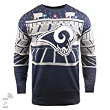 NFL Ugly Sweater Pullover Christmas Los Angeles Rams Big Logo Weihnachtspullover Bluetooth (L)