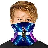 Gesichtsmaske als Vollabdeckung für Kinder, verwendbar als Bandana, Stirnband usw., als UV-Schutz – für Jungen und Mädchen – Atmungsaktiv Gr. Einheitsgröße, Fortnite 1